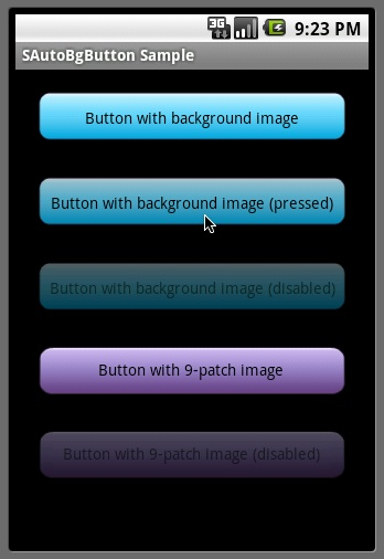 Android Button background image pressed/highlighted and disabled